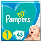 Pampers Diapers Size 1, 43 Nappies, 2-5kg