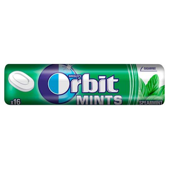 Orbit Spearmint Mints Sugarfree Candies 28 g (16 Pieces)