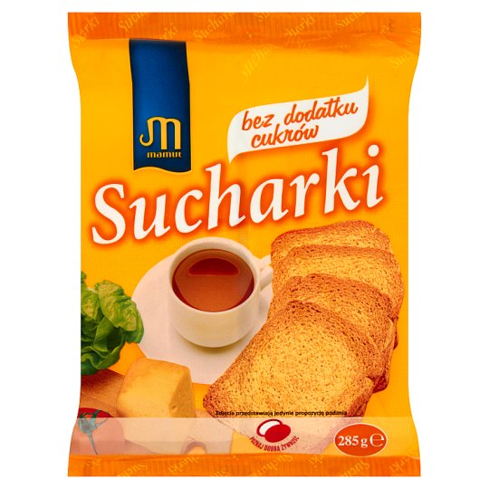 Mamut Sucharki bez dodatku cukrów 285 g