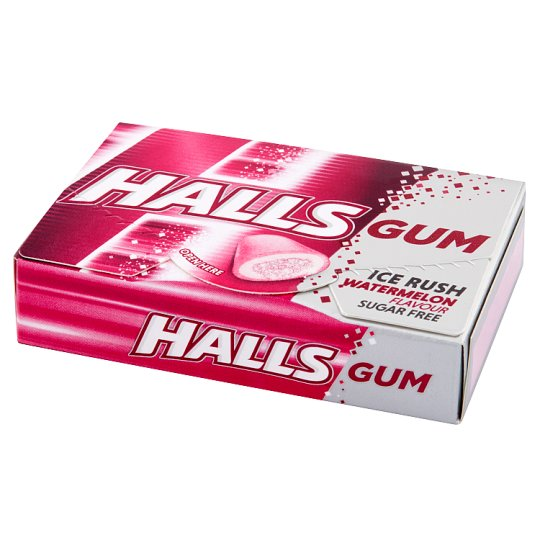 Halls Gum Ice Rush Watermelon Flavour Sugar Free Gum 18 g