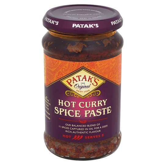 Patak's Hot Curry Spice Paste 283 g