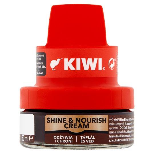 Kiwi Krem do obuwia ciemny brąz 50 ml