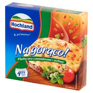 Hochland Na gorąco! Tomatoes and Herbs Cheese Slices 144 g