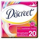 Discreet Multiform Summer Fresh Oddychające wkładki higieniczne x20