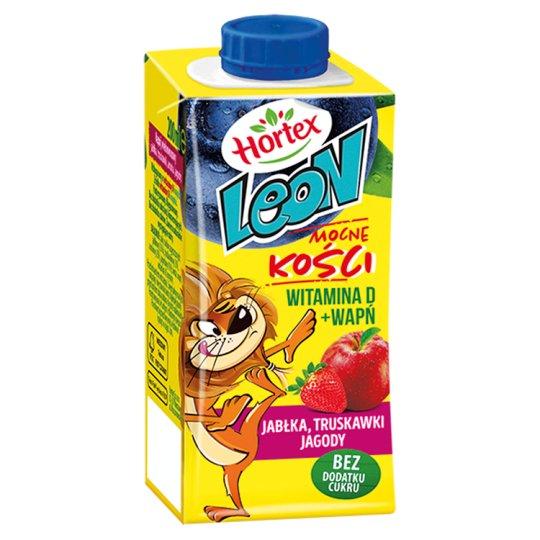 Hortex Leon Jabłka truskawki jagody Napój wieloowocowy 200 ml