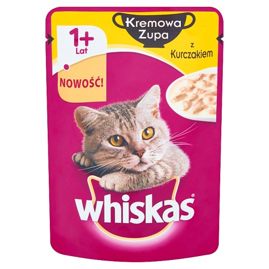 Whiskas Cream Soup with Chicken Complete Cat Food 1+ Years 85 g
