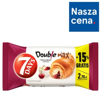 7 Days Doub!e Max Croissant with Vanilla Flavour Cream and Sour Cherry Filling 110 g