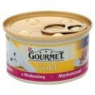 Gourmet Gold Mus z wołowiną Pełnoporcjowa karma dla dorosłych kotów 85 g