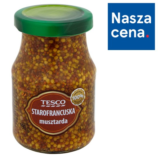 Tesco Old French Style Medium Hot Mustard 190 g