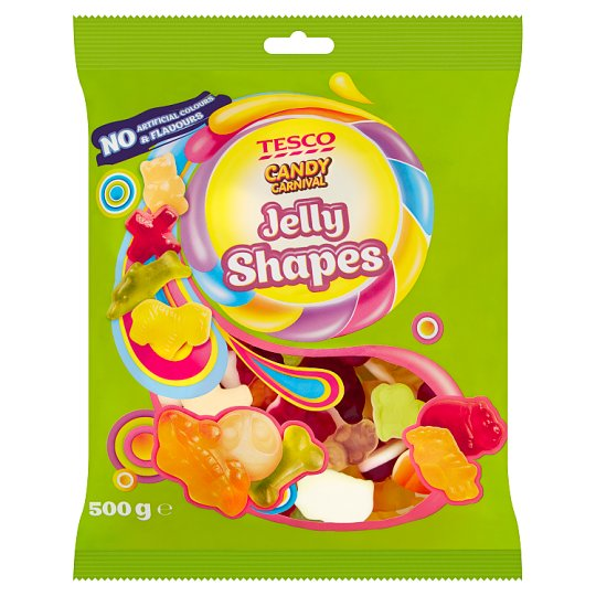 Tesco Candy Carnival Jelly Shapes Fruit Flavoured Jellies 500 g
