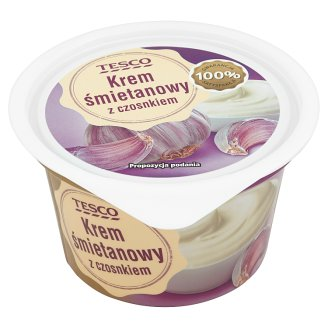 Tesco Cream Custard with Garlic 150 g