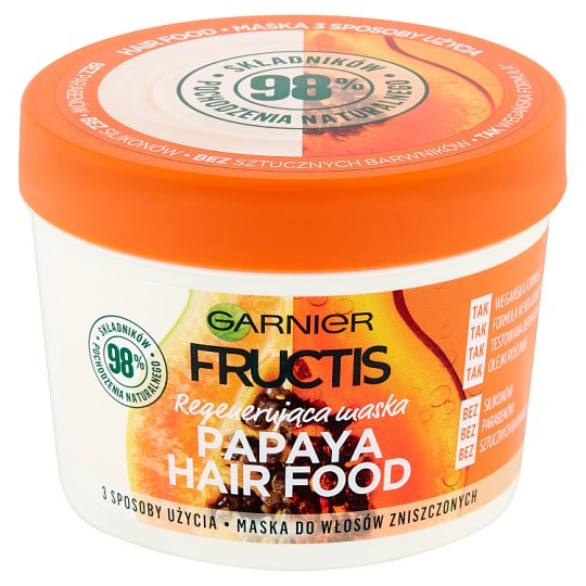 Garnier Fructis Papaya Hair Food Mask for Damaged Hair 390 ml