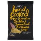 Tesco Finest Chipsy ziemniaczane o smaku sera cheddar i karmelizowanej czerwonej cebuli 150 g