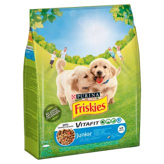 Friskies Vitafit Junior with Chicken Milk and Vegetables Complete Food for Puppies 3 kg