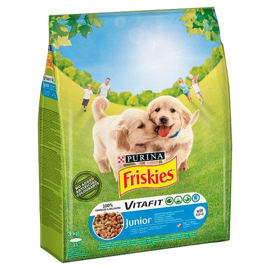 Friskies Vitafit Junior Karma dla psów z kurczakiem i warzywami 3 kg