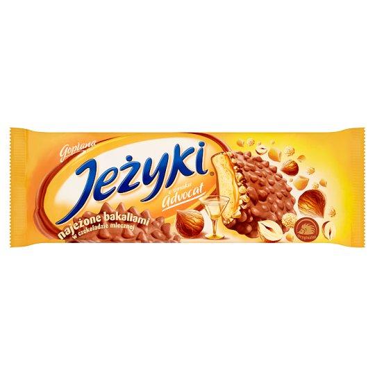Jeżyki o smaku Advocat Herbatniki w czekoladzie mlecznej 140 g