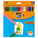 Bic Kids Tropicolors 2 Colouring Pencils 24 Colours