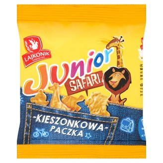 Lajkonik Junior Safari Vanilla Flavoured Baked Snack 25 g