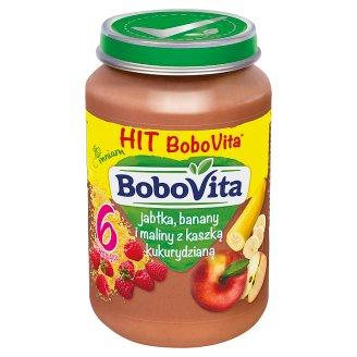 BoboVita Jabłka banany i maliny z kaszką kukurydzianą po 6 miesiącu 190 g