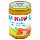 HiPP BIO Krem z marchwi i ryżu z cielęciną po 5. miesiącu 190 g
