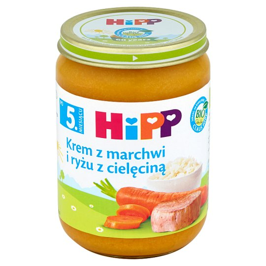 HiPP BIO Carrot and Rice Cream with Veal after 5. Months Onwards 190 g
