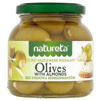 Natureta Zielone oliwki nadziewane migdałami 290 g