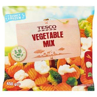 Tesco Mieszanka warzywna z marchwi kalafiora i brokułów 450 g