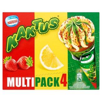 Kaktus Ice Cream Lemon and Strawberry Flavoured Water Ice Cream 440 ml (4 x 110 ml)