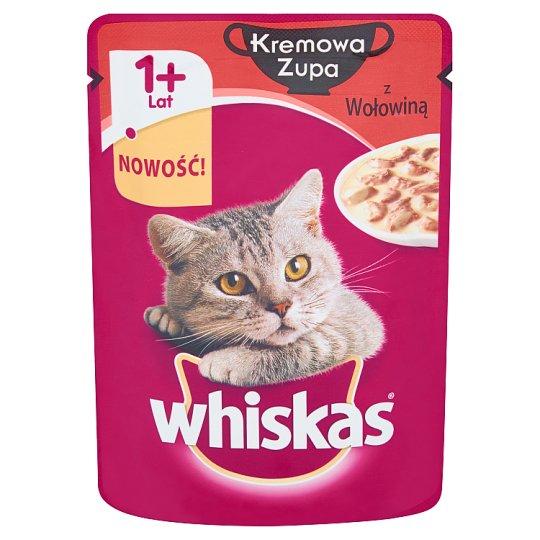 Whiskas Kremowa Zupa z Wołowiną Karma pełnoporcjowa 1+ lat 85 g