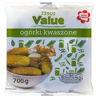 Tesco Value Ogórki kwaszone 700 g