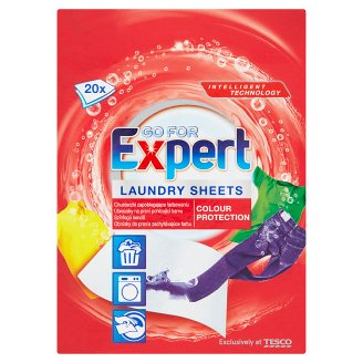 Go for Expert Colour Protection Laundry Sheets 20 Pieces