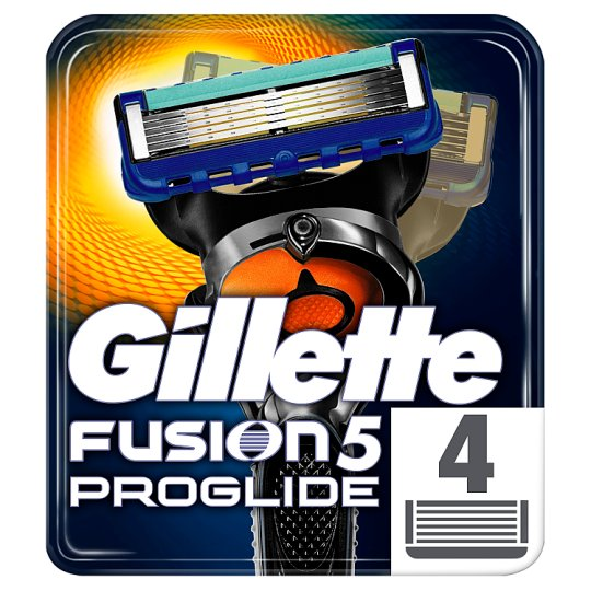 Gillette Fusion5 ProGlide Razor Blades For Men, 4 Refills