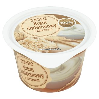 Tesco Cream Custard with Horseradish 150 g
