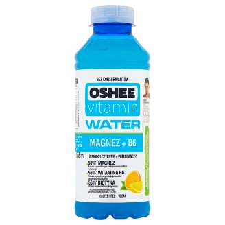 Oshee Vitamin Water Magnez + B6 Napój niegazowany o smaku cytryny-pomarańczy 555 ml