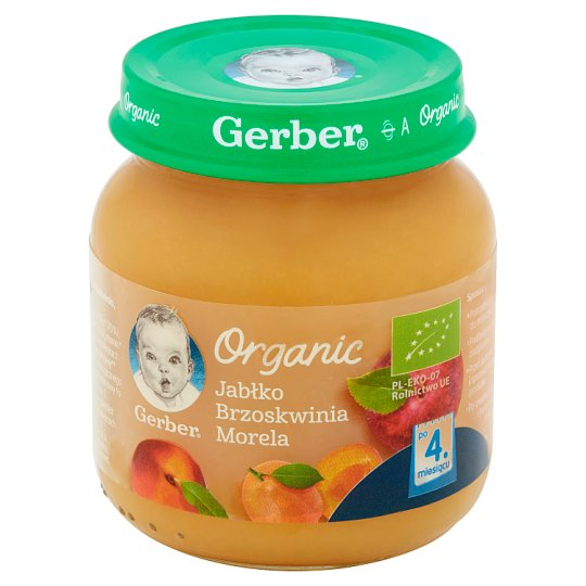 Gerber Organic Apple Peach Apricot after 4 Months Onwards 125 g