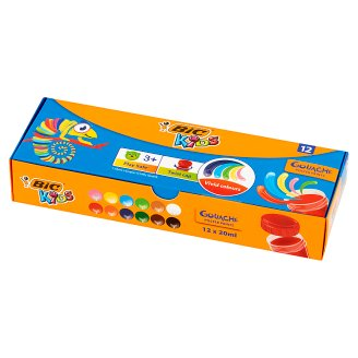 BiC Kids Poster Paints 12 Colors x 20 ml
