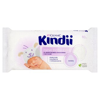 Cleanic Kindii New Baby Care Wipes for Delicate Skin of Newborns and Infants 60 Pieces