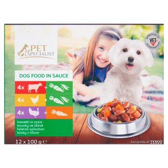 Tesco Pet Specialist Chunks in Jelly Food for Adult Dogs 12 x 100 g
