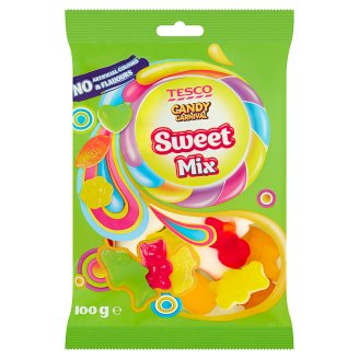 Tesco Candy Carnival Sweet Mix Fruit Flavoured Jellies 100 g