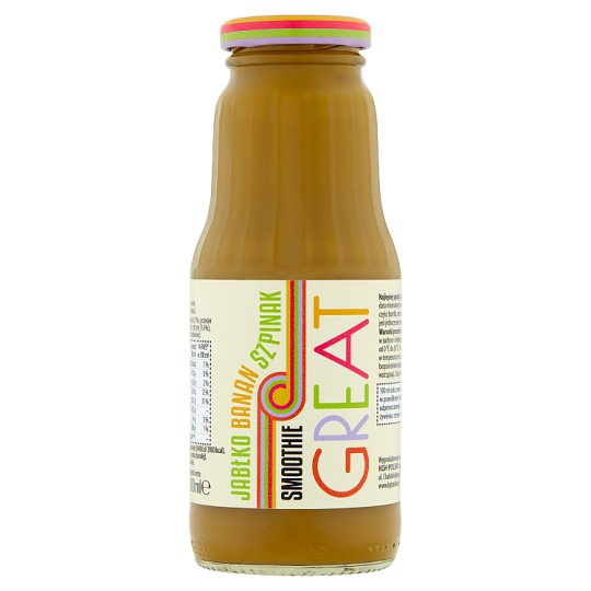 Great Apple Banana Spinach Smoothie 300 ml