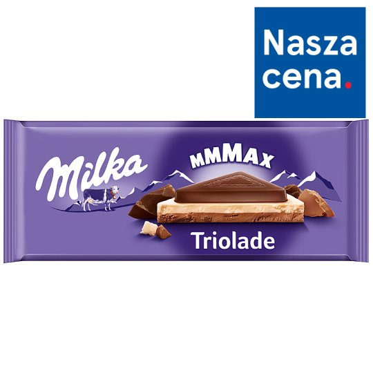Milka Mmmax Triolade Alpine Milk Chocolate 280 g
