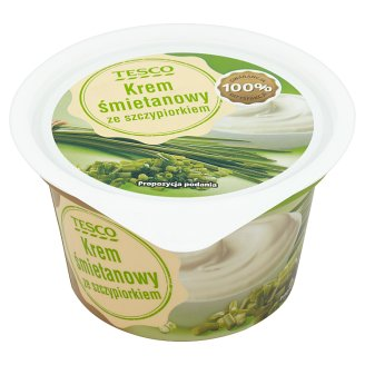 Tesco Cream Custard with Chive 150 g