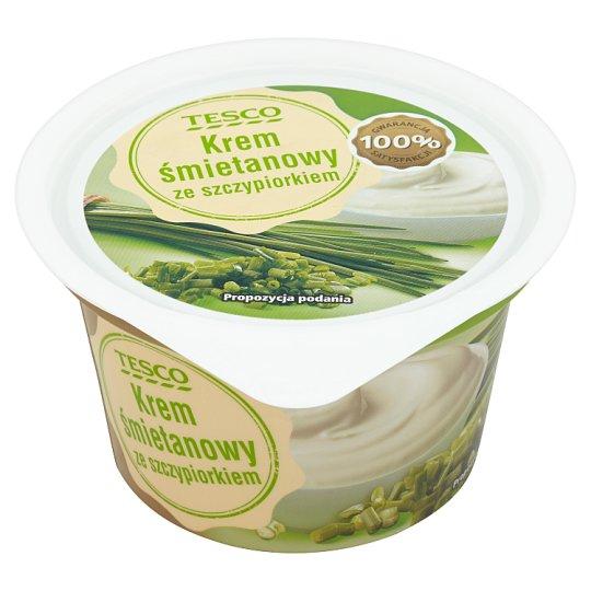 Tesco Cream Custard with Chive 150 g