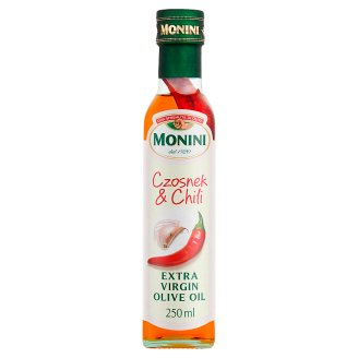 Monini Aromatyzowana oliwa z oliwek extra vergine o smaku czosnku & chili 250 ml