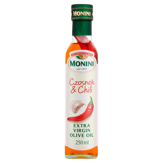 Monini Garlic & Chilli Flavoured Extra Virgin Olive Oil 250 ml