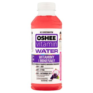 Oshee Vitamin Water Red Grape Dragonfruit Flavoured Drink 555 ml
