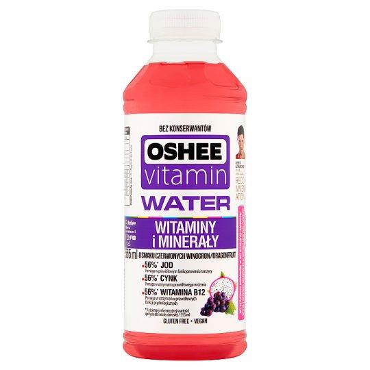 Oshee Vitamin Water Red Grape Dragonfruit Flavoured Drink 555 ml