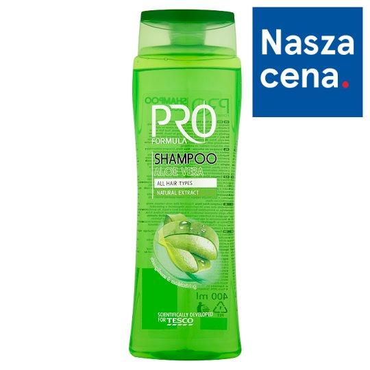 Tesco Pro Formula Aloe Vera Szampon do włosów 400 ml