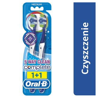 Oral-B Complete 5 Way Clean Manualna szczoteczka dozębów, średnia, x2