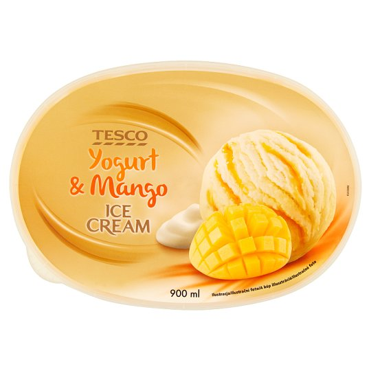 Tesco Yogurt & Mango Ice Cream 900 ml